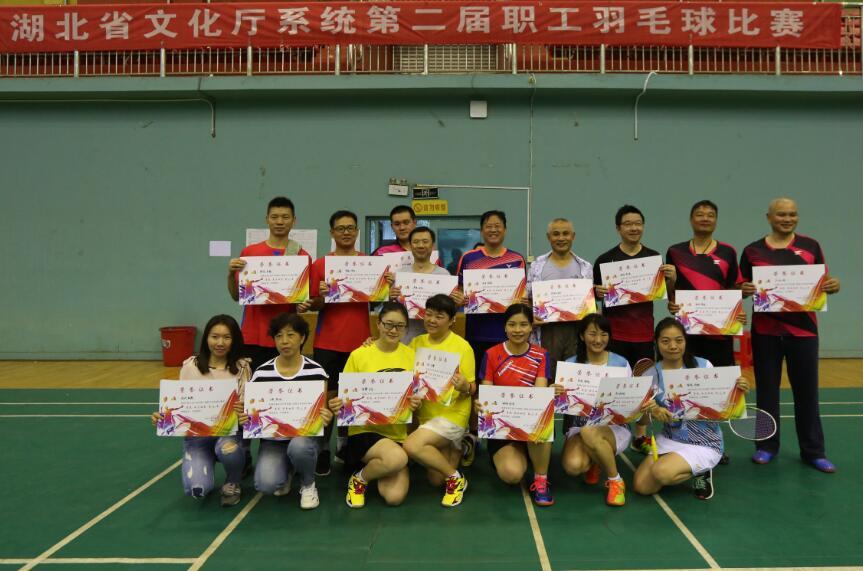 省文化厅系统第二届职工羽毛球比赛圆满成功